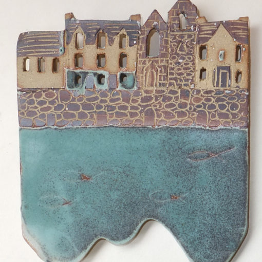 Ceramic Plaque of Tobermory by Julie Ward