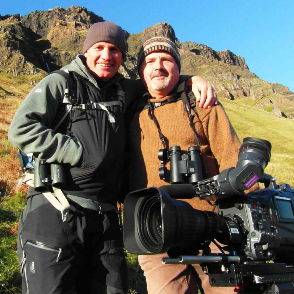 John Clare with Mike Dilger, filming for The One Show